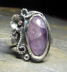 Amethyst Bloom ring - petite and feminine for spring    ....from Lavender Cottage Jewelry