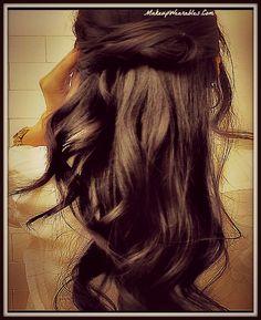 Hair tutorial video for medium long hair   Waterfall Twist Braid Hairstyle Half- Updo   Easy Hairstyles