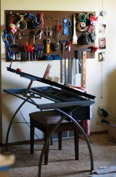 44 Creative Art Studio Organization Ideas for Workspace Desks - decortip