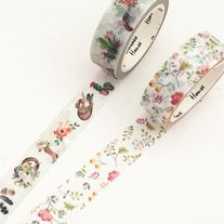 Lovely+washi+tapes+made+of+paper  Quantity:+1+pc+/+2+pcs Size:+15+mm(W)+x+7+m(L)