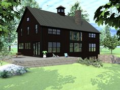 Like the basic floor plan.  Needs to be made more efficient and needs a mudroom/laundry.  Yankee Post and Beam, Suffolfk Barn House
