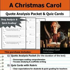 Reading Christmas Carol Quotes