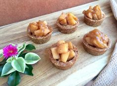 Healthy Apple Tarts with Caramel Sauce