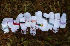 Crocheted Embellished Socks!