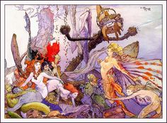 Behind Neptune's Throne  /  by Michael Kaluta
