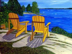 """""""At the Cottage"""":  Prints Available from info@aframestudios.ca"""
