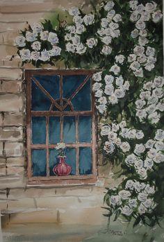 101 flores para Blanca Rosa. Pintado por el pintor acuarelista copiapino Juan Carlos Aguirre Carrasco.