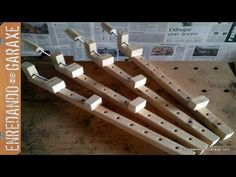 How To Make A Wooden Bar Clamp (Free Plans) - YouTube