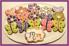 Mother's Day Cookies www.facebook.com/sweettemptationsbynicole
