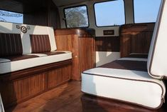 Bain Bus interior by All Things Timber