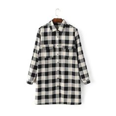Autumn winter fashion casual wild classic plaid pocket thick section shirt