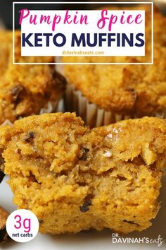 low carb meals Fall in love with big fall flavors in these keto pumpkin spice muffins. These delicious low carb pumpkin spice muffins have all the cozy fall tastes you love with a fraction of the carbs. Keto Friendly Desserts, Low Carb Desserts, Low Carb Recipes, Lunch Recipes, Dinner Recipes, Dessert Recipes, Soup Recipes, Diet Desserts, Jelly Recipes