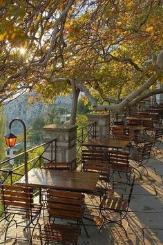 "Greece Travel Inspiration - Greece, Makrynitsa village on mount Pelion [""the balcony of Pelio"" which overlooks the valley below] photo by Konstantinos Tsantilis The Places Youll Go, Places To Visit, Beautiful World, Beautiful Places, Myconos, Greek Beauty, Thessaloniki, Greece Travel, Crete"