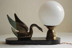 Vintage Art Deco Style Accent Lamp