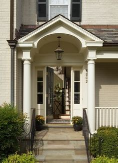 Classic Chevy Chase Looker - traditional - entry - dc metro - Anthony Wilder Design/ & Contemporary Front Stoop Design Pictures Remodel Decor and Ideas ...