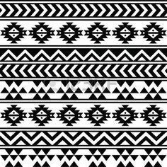 Custom Wall Tapestry Aztec Tribal Black And White Pattern Wall Handing Inches Aztec Tribal Patterns, Ethnic Patterns, Aztec Designs, Wall Patterns, White Patterns, Textures Patterns, Fabric Patterns, Aztec Art, Border Pattern