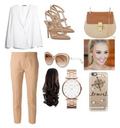 """""""casual outfit"""" by evelinafitri on Polyvore featuring MANGO, Valentino, Chloé, Christian Dior, Marc by Marc Jacobs, Casetify, women's clothing, women's fashion, women and female"""
