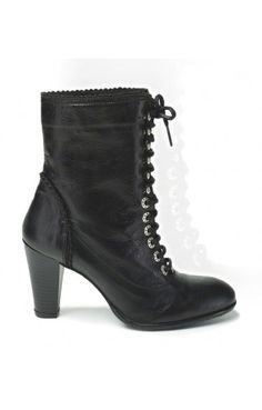 77948d938ae48e Trachtenstiefelette - 4485 - schwarz. Alpenclassics - Bavarian Styles · Trachten  Schuhe Damen