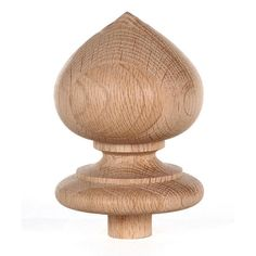 Shop Staircase Spade Finial Newel Post Cap, Red Oak Wood H X 3 W) by JMP Wood. Oak Wood Trim, Red Oak Wood, Interior Columns, Interior Shutters, Newel Post Caps, Faux Stone Panels, Wood Columns, Stair Decor, Newel Posts