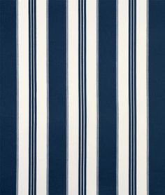 Covington Tradewinds Mariner Fabric in blue and white stripes