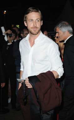 Dress shirt with rolled up sleeves = yum