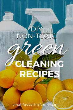 Being healthy and green often means saving money too! These effective, non-toxic green cleaning recipes cost just pennies to make. Diy Cleaners, Cleaners Homemade, Clean Sweep, Clean Clean, Green Cleaning Recipes, How To Make Everything, Natural Cleaning Products, Natural Products, Natural Cleaners