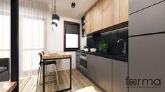 MIESZKANIE CZERWONE MAKI - Kuchnia, styl industrialny - zdjęcie od FORMA - Pracownia Architektury Wnętrz i Krajobrazu