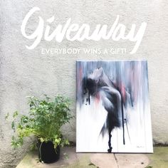 Painting Giveaway. You can win an original painting by Tania Estevez. Go to the post to participate!!!