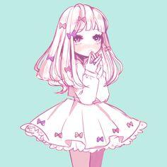 anime, cute, and kawaii imageの画像 Kawaii Anime Girl, Loli Kawaii, Kawaii Girl Drawing, Arte Do Kawaii, Kawaii Art, Lolis Anime, Anime Art, Anime Tumblr, Anime Style