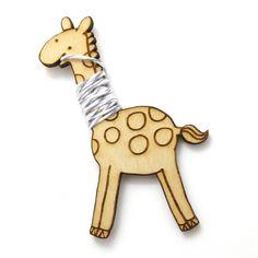 Flossy the Giraffe Embroidery Floss Bobbin #handmade #craft