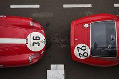 Ferrari 275GTB/C and 250GTO nose to tail