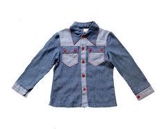 FRENCH VINTAGE 70's / kids / jacket / shirt / by Prettytidyvintage, €20.00