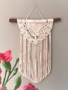 New Design Macrame Art, Wall Hangings, Plant Hanger, All Design, Dream Catcher, Arts And Crafts, Wall Art, Create, Spring