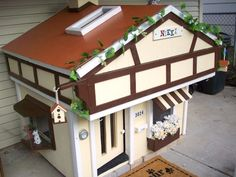 Tudor-Style Chalet for Your Dog >> http://www.diynetwork.com/outdoors/meet-the-winners-of-the-best-doggone-doghouse-contest/pictures/index.html?soc=pinterest#