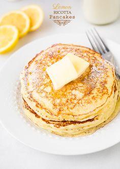 Lemon Ricotta Pancakes FoodBlogs.com