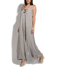 Look what I found on  zulily! Taupe Daniel Linen Jumpsuit  zulilyfinds  Χορευτές 8ad0a21e979
