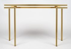 Vintage Pierre Vandel Brass Console Table