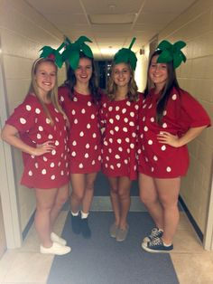 DIY cute and easy strawberry Halloween costume