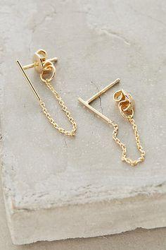 Draped Chain Earrings - anthropologie.com