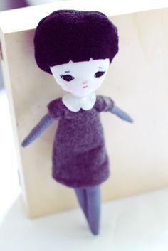 Handmade doll by Mel Stringer