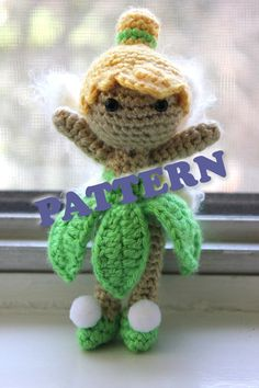 PATTERN Tinkerbell from Peter Pan Doll Crochet Amigurumi. $4.95, via Etsy. And I ordered this one to make for me!