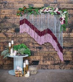 Yarn Floral Backdrop
