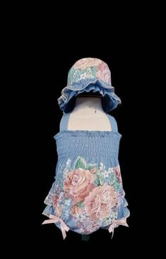 Floral Ruffle Bum Sunsuit and Frilly Bonnet set. Newborn to 3 months Lace Flower Girls, Lace Flowers, Flower Girl Dresses, Satin Tulle, Tulle Lace, Little Mermaid 2, Bunny Hat, Handmade Design, Special Occasion Dresses