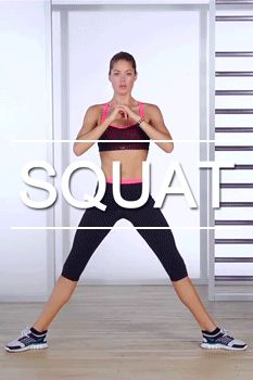 Fitness workout: exercise for inner thighs. Bubble Butt Workout, Squat Workout, Workout Exercises, Workout Fitness, Pilates, Fitness Tips, Health Fitness, Victoria Secret Workout, Girls Who Squat