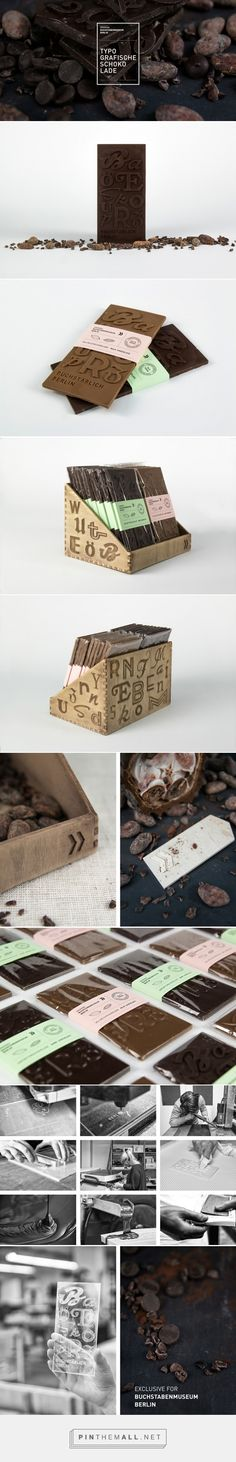 #Typographic #Chocolate #packaging designed by Lisa-Marie Peters and Christian Pannicke - http://www.packagingoftheworld.com/2015/03/typographic-chocolate-student-project.html