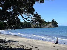 One of the many gorgeous (and quiet) beaches on Whangaparaoa peninsula in Auckland, New Zealand.
