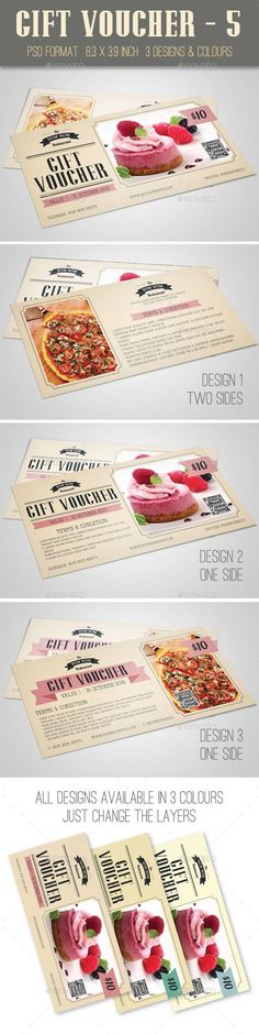 Gift Voucher Template PSD #design Download: http://graphicriver.net/item/gift-voucher-5/13202843?ref=ksioks