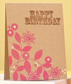 Pink Floral Wishes Card by @Dawn McVey