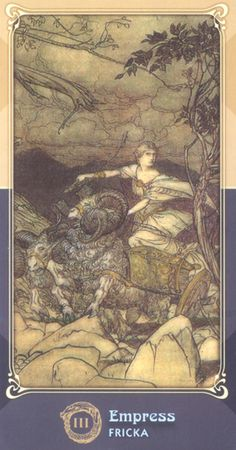 """The Ring Cycle Tarot -based on """"The Ring of the Nibelung """""""