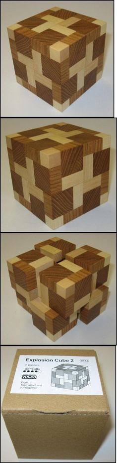 Other Contemporary Puzzles 2615: Explosion Cube 2 - Wooden Puzzle Brain Teaser -> BUY IT NOW ONLY: $47.95 on eBay!
